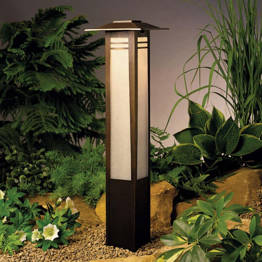 Japanese style lighting landscape and garden lighting for Japanese landscape lanterns